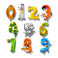 ANIMAL SHAPE NUMBER BALLOON KIDS 0-9 BIRTHDAY PARTY DECORATIONS BALLOONS TOY NEW
