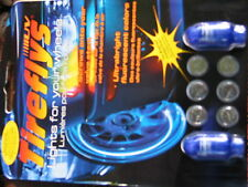 24 BLUE COOL TIREFLY LIGHTS FOR YOUR WHEELS 12PKG TOTAL 24 LITES MOTION ACTIVATE