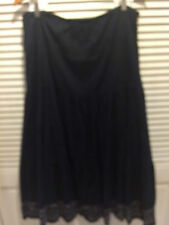 CHICOS Black  Tiered Boho Peasant Lined Long Skirt Chico's SZ  1