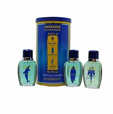 GIVENCHY INSENSE ULTRAMARINE SPIRIT OF THE OCEAN 3PC SET EAU DE TOILETTE SPR NIB