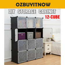 DIY 12 Cube Storage Cupboard Cabinet Wardrobe Shoe Rack Toy Book Shelf AU Stock5