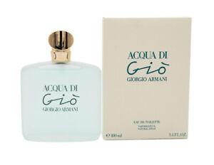 Acqua Di Gio by Giorgio Armani 3.4 oz EDT Perfume for Women New In Box