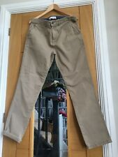 Mens 36w 32 Long Beige Chino Trousers George