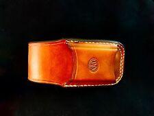 Horizontal Carry Custom Leather Sheath for the Leatherman Surge/Supertool Brown