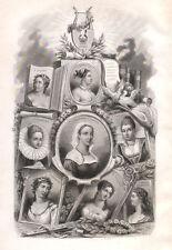 Colonna, G.Stampa, Terracina, V.Gambara, Andreini, Bandettini, Saluzzo, 1850