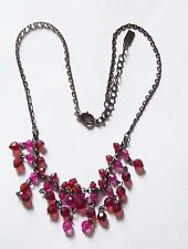 Red & Raspberry 1928 Brand Necklace