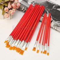 6/12 PCS Nylon Brushes Set For Artists Paint Watercolour Acrylic Oil Painting