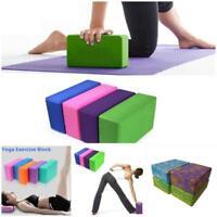 EVA Yoga Block Foam Brick Pilates Sports Exercise Gym Workout Stretching D