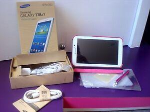 Tablet PC Samsung Galaxy Tab 3 SM-T210 8 Go, Wi-Fi blanche neuve + housse rose