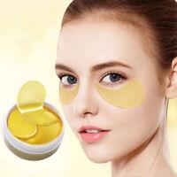 60Pcs Gold Crystal Collagen Eye Mask Under Eye Pads Remove Wrinkles Dark Circles