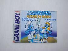 Notice d'origine instruction pour jeu game boy Les Schtroumpfs autour du monde