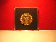 V Raro 24k oro en Egipto Rey Tut £ 1 Una Libra Moneda Nuevo en Capcell Brillante Unc