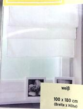 Raffrollo weiß Raffgardine Fenster Faltrollo Rollo Gardine 100x180cm Neu
