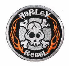 HARLEY DAVIDSON RARE Rebel Skull with Flames  HARLEY  PATCH