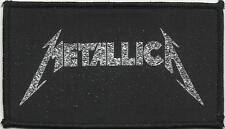 METALLICA silver logo 2000 - WOVEN SEW ON PATCH official - no longer made