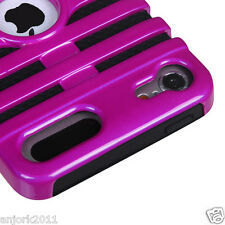 Apple iPod Touch 5 Mic Dual Layer Hybrid Case Skin Cover Accessory Pink Black