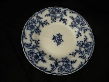 ANTIQUE MINTON ANEMONE FLOW BLUE SOUP PLATE