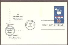 US SC # UX59 Map Of Continental United States FDC. Artmaster Cachet