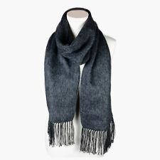 Fashionable Dark Grey Alpaca Wool Blend Unisex Scarf by INKITA.Chic Style.