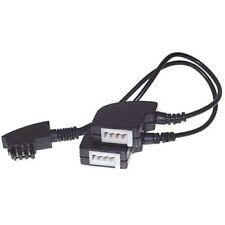 Y Kabel Adapter Verteiler für Telefon 1x TAEF Stecker IN auf 2x TAE-F Buchse OUT