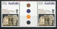 Australia 1980 High Court Building Canberra traffic light gutter pair MNH mint