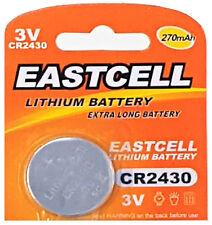 50 x CR2430 3V Lithium Batterie 270 mAh (10 Blistercard a 5 Batterien  EASTCELL