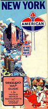 1966 New York Road Map from American Oil Co. & Tempo Designs