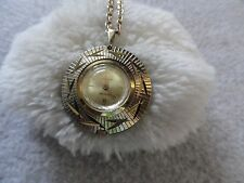 Wind Up Necklace Pendant Watch Vintage Swiss Made Famous Anti-magnetic