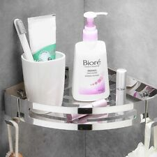 Punch-Free 304 Stainless Steel Triangle Basket Shelf Suction Wall-Mounted Shower