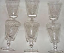 6 VINTAGE 1969 DAVID WILLIAMS SIGNED INVESTITURE GLASSES GOBLETS PRINCE CHARLES