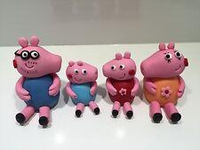 3D Edible Peppa Pig Family Cake Topper fondant Peppa Pig figure birthday cake