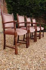 Fantastic Set of Four Antique Oak Dining Chairs (Carvers) - Victorian?