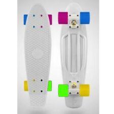 "Penny Skate White Snow Multi Color Wheels 27"" Skateboard"