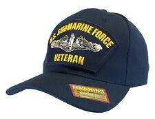 'VETERAN' US Submarine Force Hat Dark Blue Ball Cap 'LOT OF 25 PIECES'