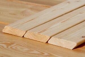Rhombusleiste 20x90mm Sibirische Lärche Hartholz Holzleiste Sichtschutz Fassade