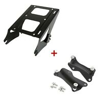 Two Up Mounting Rack + 4 Point Docking Hardware Kit For 14-UP Harley Touring