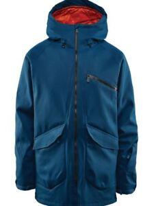 ThirtyTwo STASH 10K Mens Snowboard Jacket Large Indigo Blue NEW