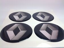 NEW 4pcs Silicone Stickers for Wheel Centre Cap Hubs for RENAULT - 55mm