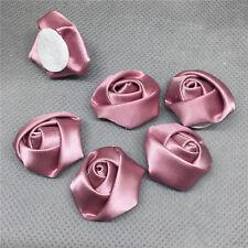 10pzas rojo morado Cinta De Satén Flor Color Rosa Bricolaje Manualidades Boda