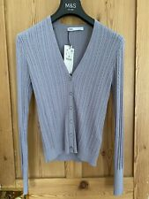 Zara Lilac Knit Cardigan With Rhinestone Buttons. Size L Brand New With Tags