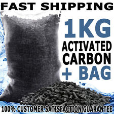Aqua Aquarium Fish Tank Activated Carbon Aquaponics Pond Filter Media + Bag 1KG