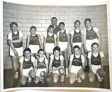VINTAGE 1960 BOYS BASKETBALL TEAM PHOTO ~ ORIGINAL PHOTOGRAPH ~ MYERSON'S SCHOOL