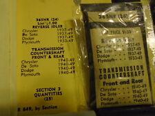 33-49  CHYSLER DESOTO DODGE PLYMOUTH TRANSMISSION NEEDLE BEARINGS