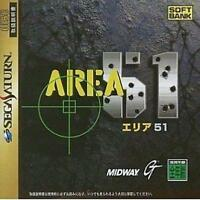 USED Area 51 Sega Saturn SS Japan Import