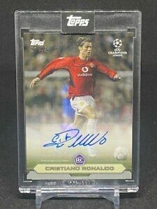 2020 CRISTIANO RONALDO Topps The Lost Rookie Card UEFA CHAMPIONS LEAGUE AUTO /49