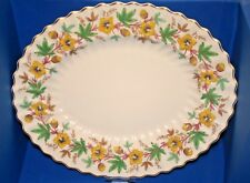 Beautiful Large Vintage Royal Doulton Chatsworth - Yellow -15inch Platter  - VGC
