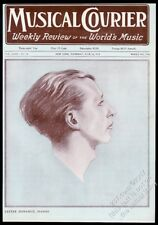 1917 Lester Donahue portrait Musical Courier framing cover