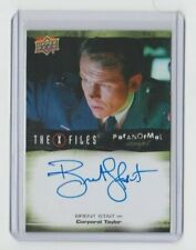 X-Files Ufos and Alien Edition Paranormal Autograph Trading Card Brent Strait