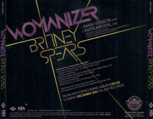 * Britney Spears – Womanizer - US Promo 2 Tracks CD Single -   circus 3 radar