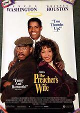 "1996 MOVIE POSTER *PREACHERS WIFE* DENZEL WASHINGTON WHITNEY HOUSTON 26X40"" ***"